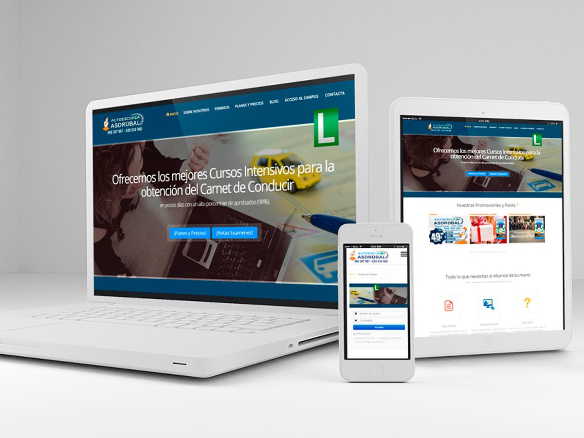 Desarrollo web y red social Autoescuela Asdrubal