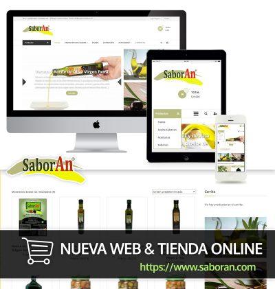 Saboran Remozado de Web y nueva tienda online